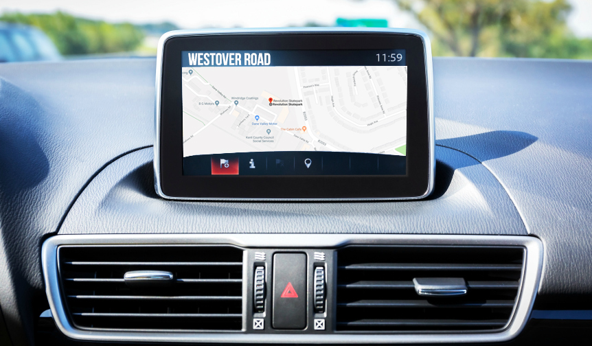 Contact us now - Sat Nav